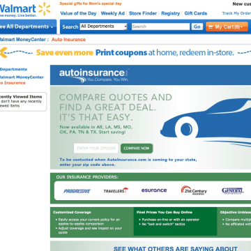 Wal-Mart, the world's largest retailer, is making a foray into auto insurance.