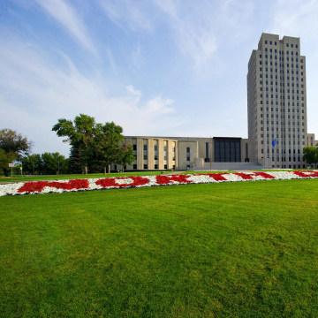 Image: The state Capitol of North Dakota at Bismarck
