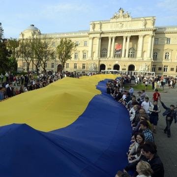 Image: UKRAINE-RUSSIA-CRISIS-POLITICS-FLAG