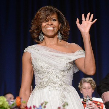 Image: First lady Michelle Obama attends the annual White House Correspondent's Association Dinner