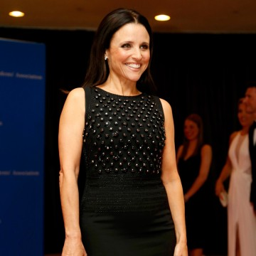 Image: Actress Julia Louis-Dreyfus arrives on the red carpet at the annual White House Correspondents' Association Dinner in Washington