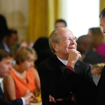 Image: Rev. Robinson attends Easter prayer breakfast in the East Room of the White House in Washington