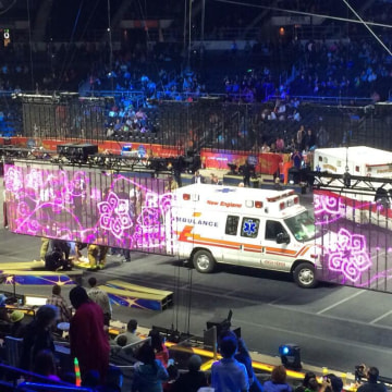 Image: Many actors from an aerial performance were injured at the Barnum and Bailey Circus in Providence, Rhode Island Sunday afternoon.