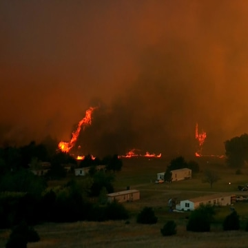 Image: A wildfire burns in Oklahoma.