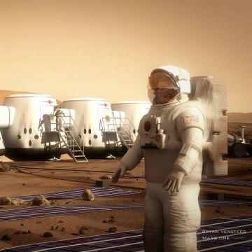 Image: Settler on Mars