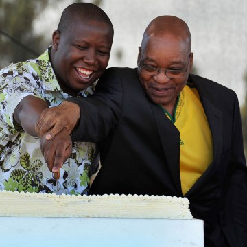 Image: Julius Malema and South African President Jacob Zuma