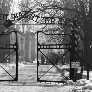 Image: Gates Of Auschwitz in 1965