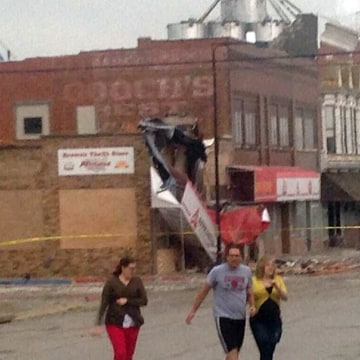 Image: A suspected tornado caused damage in Sutton, Nebraska