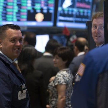 The New York Stock Exchange was all smiles on Monday as the Dow and the S&P 500 closed at record highs.