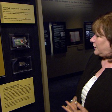Image: Patricia Reilly at the National September 11 Memorial Museum