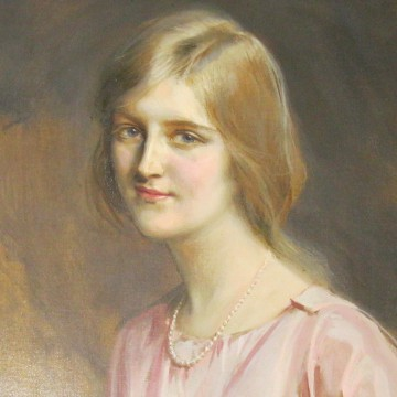Image: A painting of Huguette Clark inside Bellosguardo, the Huguette Clark estate in Santa Barbara, California.