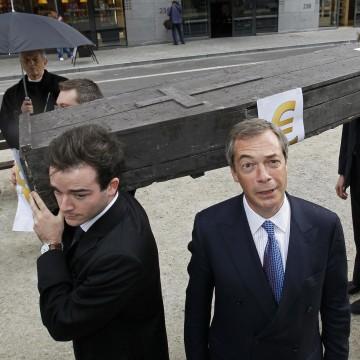 Image: UKIP leader Nigel Farage during a demonstration in June 2011