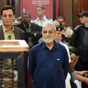 Image: Egyptian Brotherhood's supreme guide Mohamed Badie