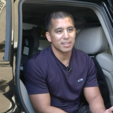 Image: Randy Calado's vehicle was broken into and priceless items his family grabbed as they evacuated a wildfire– including irreplaceable heirlooms – had been stolen.