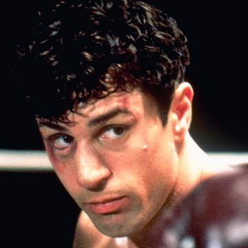 "Image: This 1980 file photo showing Robert De Niro as Jake La Motta in a boxing scene from Martin Scorsese's film ""Raging Bull."""