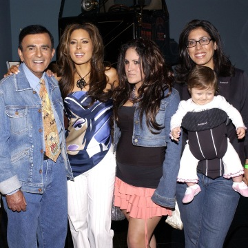 Image: Radio personality Casey Kasem, second from left, and his family