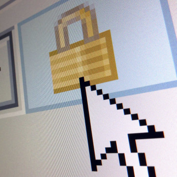 Image: File photo illustration of a lock icon, signifying an encrypted Internet connection