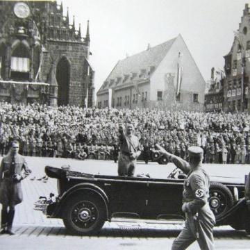 Image: Adolf Hitler in Nuremberg, Germany, in 1934