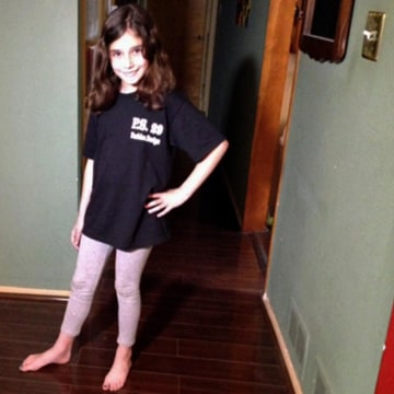 Image: The mother of a third-grade girl says she's upset that the city Department of Education sent home a health assessment in her daughter's book bag that categorizes the 9-year-old as 'overweight'