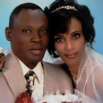 Meriam Yehya Ibrahim with her husband Daniel Wani, a Christian man from South Sudan. Ibrahim, who is Sudanese, was sentenced to death for refusing to renounce Christianity.