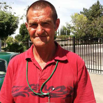 Image: Joe Cornell back at work on a Salvation Army lot near downtown Fresno on May 29