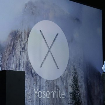 Image: Apple senior vice president of Software Engineering Craig Federighi introduces the Yosemite operating system during the Apple Worldwide Developers Conference in San Francisco
