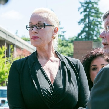 Image: Jean Kasem, the wife of ailing DJ Casey Kasem, makes a court ordered appearance, May 30