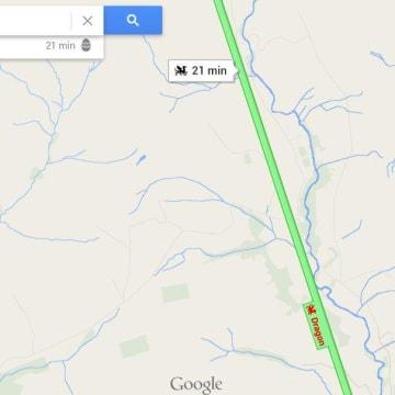 Google Maps Dragon