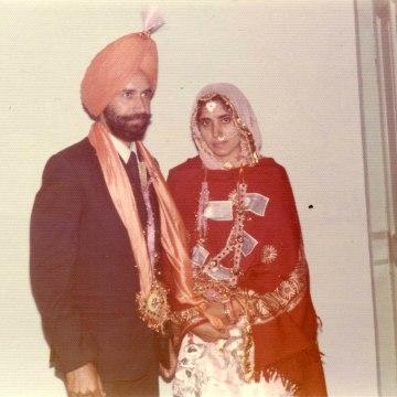 Image: The wedding of Waris' parents