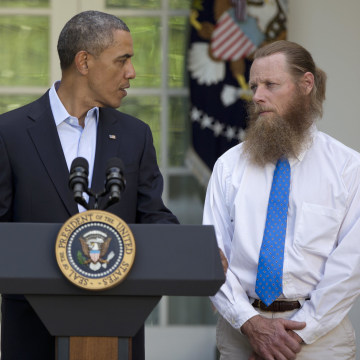 Image: Barack Obama, Jani Bergdah, Bob Bergdahl