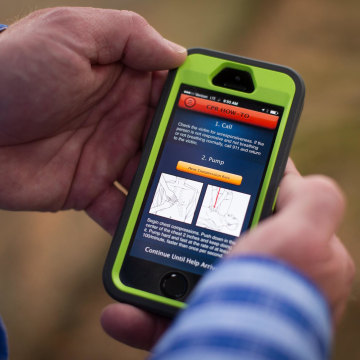 Image: The smart phone app PulsePoint