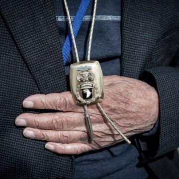 Image: John Cipolla wears a 101st Airborne pendant