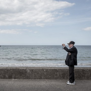 Image: U.S. veteran John Gaynor visits Gold Beach in Normandy ahead of the 70th anniversary of D-Day.