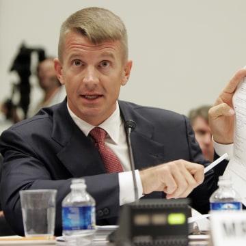 Image: Blackwater USA founder Erik Prince testifies on Capitol Hill