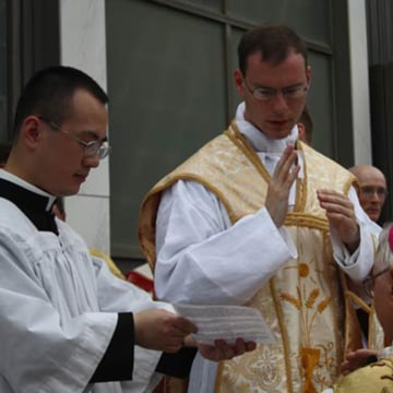 Image: Fr. Kenneth Walker, 28, is seen on his ordination day on May 19, 2012