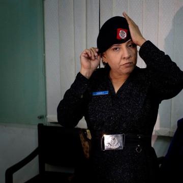 Image: Pakistani police officer Syeda Ghazala