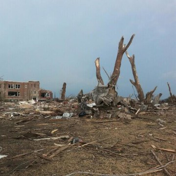 Image: A tornado caused major damage in Pilger, Neb., on Monday, June 16, 2014.