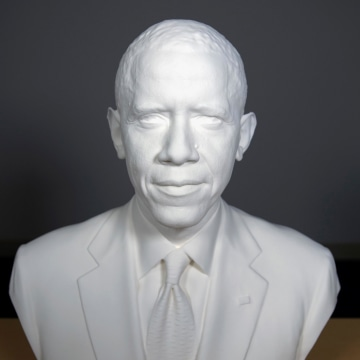 Image: The first presidential portrait created from 3-D scan data