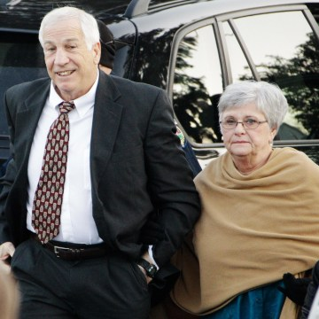 Image: Former Penn State University assistant football coach Jerry Sandusky, left, and his wife Dottie Sandusky in 2011.