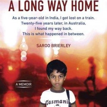 "The cover of Saroo Brierley's new book, ""A Long Way Home"""