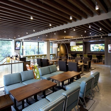 Inside a Starbucks coffee shop in Dongbu Ichondong, Seoul, South Korea.
