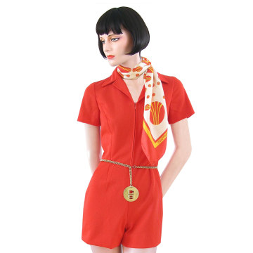 Image: In the 1960s and '70s, hotpants were common, as seen in this Continental uniform.
