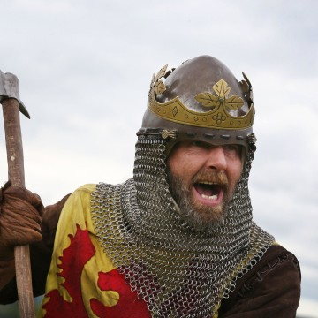 Image: Actor playing Robert the Bruce