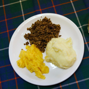 Image: Haggis, neeps and tatties