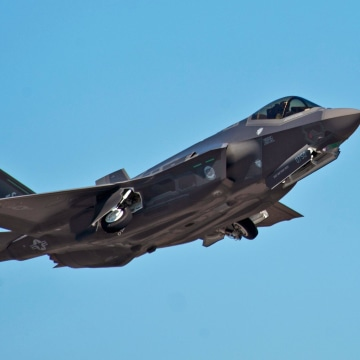 Image: An F-35A Lightning II Joint Strike Fighter takes off on a training sortie at Eglin Air Force Base, Florida