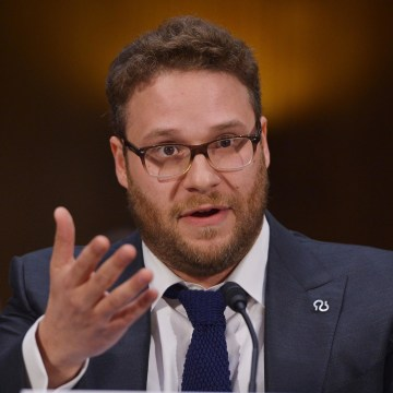 Image: Actor and Alzheimer's advocate Seth Rogen testifies before the Senate Committee on Appropriations on the rising cost of Alzheimer's in America
