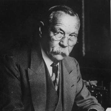 Image: Sir Arthur Conan Doyle (1859 - 1930) author best known for writing the Sherlock Holmes stories.