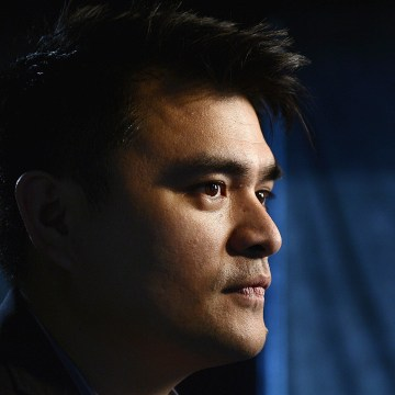 """Image: Journalist and director of film """"Documented"""", Jose Antonio Vargas, poses for a photograph in Los Angeles, Californa"""