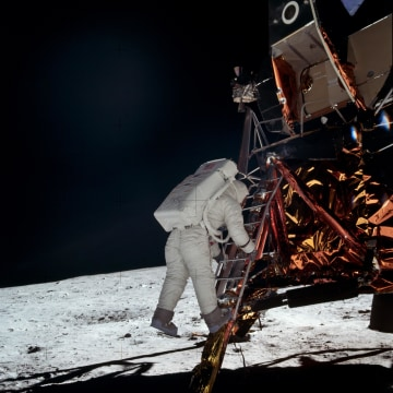 Image: Aldrin on the moon