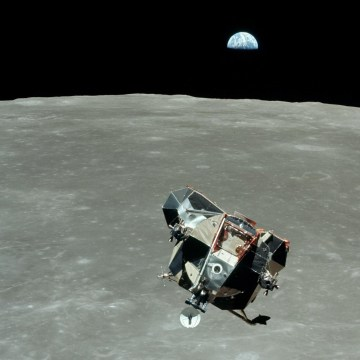 Image: Earthrise with LM